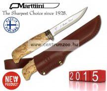 Marttiini Lynx Knife 134 (bronz ujjvédővel) kés 22cm (134012 ) prémium bőr tokkal