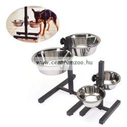 Camon Doggy Bar állványos tálszett 2*21 cm - 2*1900 ml  méretben C026/3