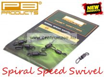 PB Products Spiral Speed Swivel - gyorskapocs 8-as 8db (SSS8)