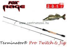 "FOX Rage Terminator® Pro Twitch & Jig 210cm 6'11"" 3-14g pergető bot (NRD210) + wobbler"