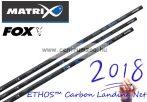 MERÍTŐNYÉL Fox Matrix ETHOS™ Carbon Landing Net Handle MK2 erős merítő nyél 4m 3 rész (GLN035)