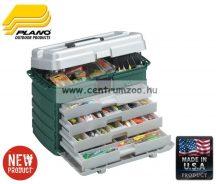 Plano 758-005 4 fiókos láda 53x29x35cm ezüst/zöld 52 x 29 x 35 cm