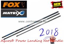 MERÍTŐNYÉL Fox Matrix Aquos® Power Landing Net Handle erős merítő nyél 4m 3 rész (GLN059)