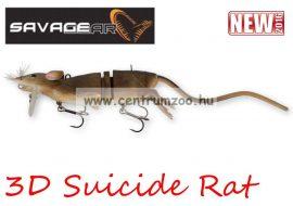 Savage Gear 3D Rad Rat mű úszó patkány csukára, harcsára 20cm 32g (Brown color) (53736)