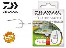 Daiwa Tournament X Power ZANDER Snelled Hooks előkötött horog - SÜLLŐZŐ (1462) (14462-0 )