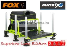 Fox Matrix® S36 Superbox Lime Edition versenyláda  (GMB115)  sikertermék + PÓLÓ