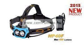fejlámpa  FENIX HP40F LED FEJLÁMPA (450 LUMEN) vízálló 110m fényerő