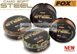 FOX Camo Soft® Edges Soft Steel Dark Camo 13lb x 1000m - 0.309mm  5.9kg monofil zsinór (CML136)