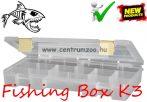 FISHING BOX ORGANIZER K3  tároló aprócikkes doboz  (75090-003)