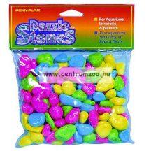 Penn Plax Dazzle Stones akvárium dekor aljzat kavics - MULTI COLORS 220g (010392)