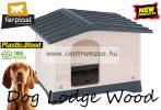 Ferplast Dog Lodge 110 Wood Outdoor fa kutyaház (87249099)