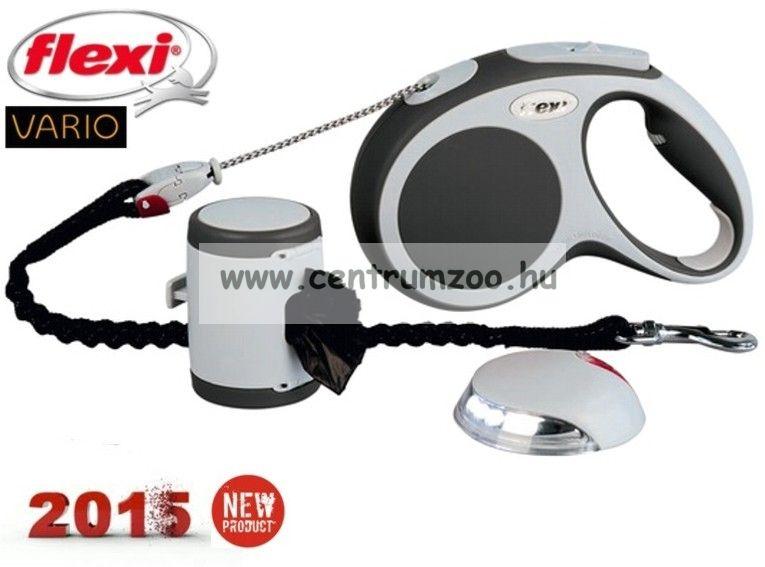 6c049ec205d3 Flexi Vario Set NEW komplett automata póráz + lámpa + alomzacsi tartó -  AKCIÓ