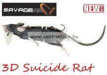 Savage Gear 3D Rad Rat mű úszó patkány csukára, harcsára 30cm 86g (Black color) (53737)