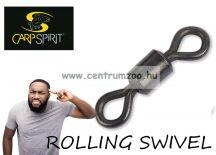 Carp Spirit ROLLING SWIVEL 8-as forgókapocs matt fekete 20db (ACS290005)