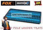 Fox Matrix Loaded Pole Winders tray pack 13cm szerelék tartó létra szett 42db (GPW001)