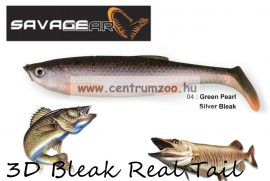 SAVAGE GEAR LB 3D Bleak Paddle Tail 10.5cm 8g 5db 04-Green Pearl Silver Black gumihal (50440) küsz utánzat