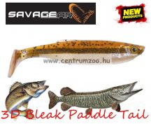 Savage Gear LB 3D Bleak Paddle Tail 8cm 4g 5pcs 08-Minnow gumihal (57496) küsz utánzat