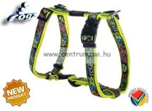 Rogz Fancy Dress Scooter hám Medium SJ12 -BU Dayglo Floral