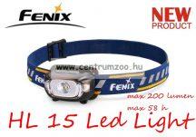fejlámpa  FENIX HL15 Black LED FEJLÁMPA (200 LUMEN) vízálló NEW - FEKETE