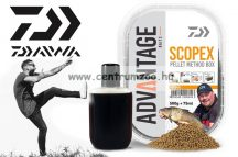 Daiwa Advantage Baits Method Natural Scopex Pellet Box 500g pellet +75ml locsoló (13300-200) étvágyfokozó