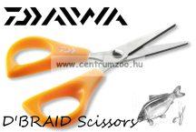 DAIWA D'BRAID Scissors - Premium olló 11cm - fonott zsinórokhoz is (15803-070)