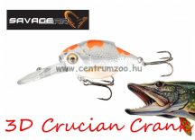 Savage Gear 3D Crucian Crank34 3.4cm 3g F SR 03-Pearl White Silver (53766)