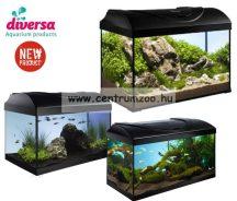 DIVERSA 80 LED New EGYENES 112 literes felszerelt akvárium szett