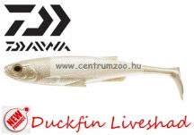 Daiwa Duckfin Liveshad prémium gumihal 10cm 3db UV Pearl (16705-002)