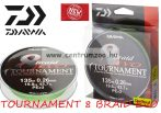 DAIWA TOURNAMENT 8 BRAID EVO dark green 135m 0,14mm fonott zsinór (12780-014)