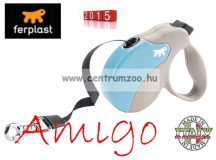 Ferplast AMIGO TAPE MEDIUM 25kg 5m automata póráz BEIGE BLUE