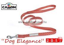 Camon Dog Elegance Red 10mmx1,2m textil póráz (DC061/G) piros