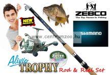 Shimano Alivio 3,6m 50-100g  & Zebco Trophy BR460 Fishing Combo - bot és nyeletőfékes orsó szett+zsinór (ALTE8000360  0304060)