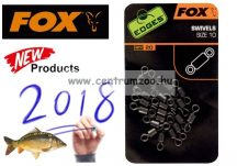 FOX EDGES™ Swivels size 10 karikás forgókapocs 20db (CAC534)