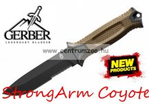 Gerber StrongArm Coyote Brown tőr, félig fogazott pengével Amerikából  001058