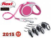 Flexi Vario Tape NEW L PINK SZALAGOS 8m 50kg automata póráz -rózsaszín