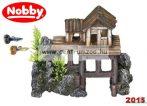 Nobby akvárium dekoráció romos faház 15,5*12*8cm (28058)