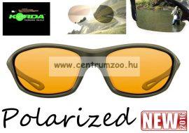 Korda Sunglasses Wraps Gloss Olive - Yellow Lens Polarized napszemüveg (K4D02)