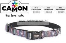 Camon Cubic Multicolor 20mm 34-52cm széles textil nyakörv (DC109/C)