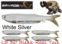 Savage Gear LB 3D Bleak Real Tail 13.5cm 14g 4pcs 05-White Silver gumihal (50449) küsz utánzat