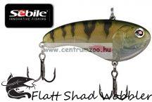Sebile® Flatt Shad megbízható wobbler FS-066-SK - Natural White Perch (1405004)