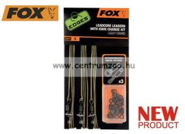 Fox EDGES™EDGES™ Dark Camo Helicopter Rig Leadcore 3db szett (CAC574)