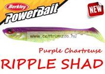 Berkley POWERBAIT RIPPLE SHAD 7cm Bulk Purple Chartreuse (1376941)