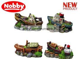 Nobby akvárium dekorációs elsüllyedt hajó 9-10cmx6cm (28225)
