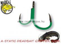 MAD CAT MADCAT A-STATIC DEADBAIT GRIPPER HOOK #8/0 / SB=4 harcsa horog (55948)