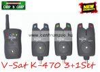 Carp Zoom V-Sat K-470 Elektromos kapásjelző szett 3+1 (CZ6902)
