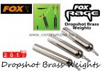 Fox Rage Dropshot Brass Weights 12g 4db dropshot ólom (NLD025)