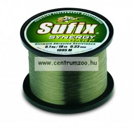 Sufix SYNERGY CARP - 0.37mm/10,8kg/TRANS GREEN/1000m