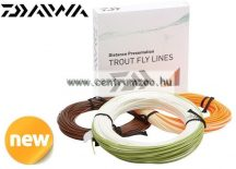 Daiwa Wilderness Premium Fly Lines legyező zsinór WF4F IVORY RUN /ORANGE TIP (DTWF4F-IO)