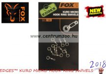 FOX EDGES™ KURO MICRO HOOK RING SWIVELS karikás forgókapocs 10db (CAC586)
