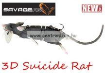 Savage Gear 3D Rad Rat mű úszó patkány csukára, harcsára 20cm 32g (Black color) (53737)